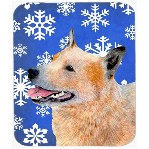 Carolines Treasures LH9272MP Australian Cattle Dog Winter Snowflakes Holiday Mouse Pad Hot Pad Or Trivet