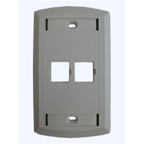 Suttle 1 SE-STAR500S2-85 2 Outlet Faceplate - White