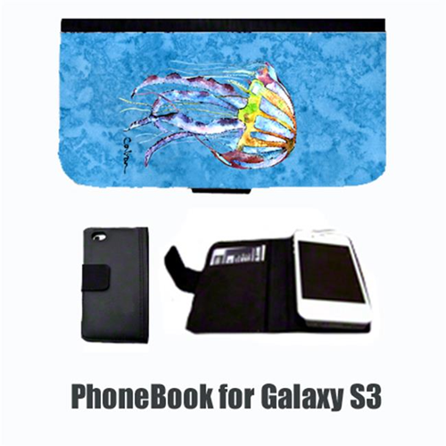 Carolines Treasures 8682-NBGALAXYS3 Jellyfish Cell Phonebook Cell Phone case Cover for GALAXY S3
