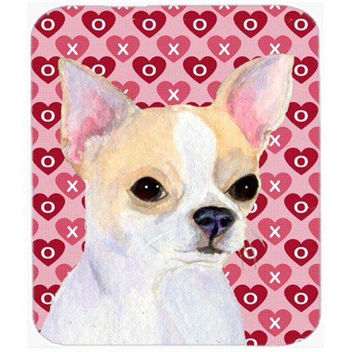 Carolines Treasures SS4474MP Chihuahua Hearts Love And Valentines Day Portrait Mouse Pad Hot Pad Or Trivet
