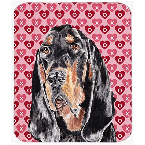 Carolines Treasures SC9553MP 7.75 x 9.25 in. Coonhound Valentines Love Mouse Pad Hot Pad or Trivet
