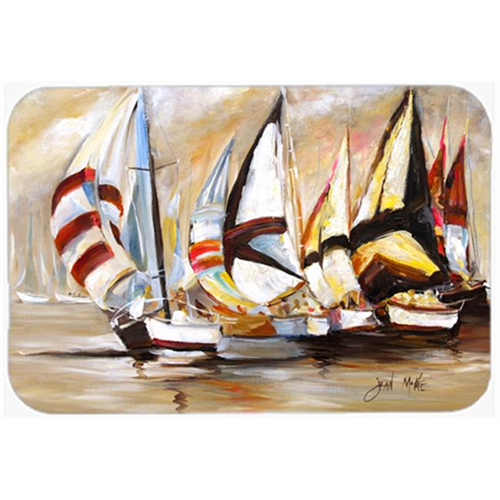 Carolines Treasures JMK1136MP Boat Binge Sailboats Mouse Pad Hot Pad & Trivet