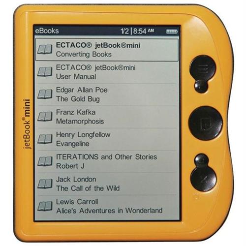 Ectaco Jbm-Y Jetbook Mini Ebook Reader California Yellow
