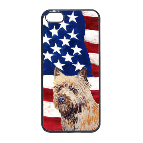 Carolines Treasures LH9020IP4 USA American Flag With Cairn Terrier Iphone 4 Cover