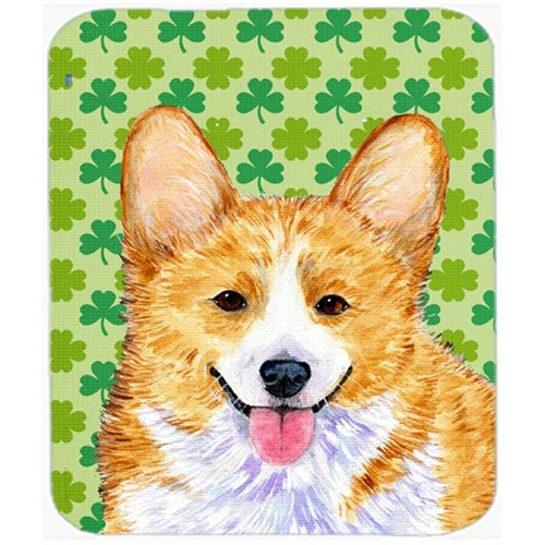 Carolines Treasures SS4417MP Corgi St. Patricks Day Shamrock Portrait Mouse Pad Hot Pad Or Trivet