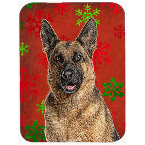 Carolines Treasures KJ1187MP Red Snowflakes Holiday Christmas German Shepherd Mouse Pad Hot Pad or Trivet
