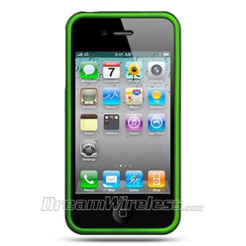 DreamWireless IP-CRIP4GR iPhone 4S & iPhone 4 Compatible Hd Rubber Case - Green