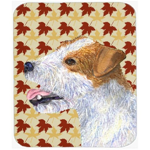 Carolines Treasures SS4352MP Jack Russell Terrier Fall Leaves Portrait Mouse Pad Hot Pad Or Trivet