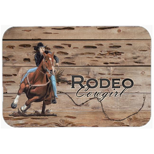 Carolines Treasures SB3055MP 7.75 x 9.25 In. Rodeo Cowgirl Barrel Racer Mouse Pad Hot Pad Or Trivet