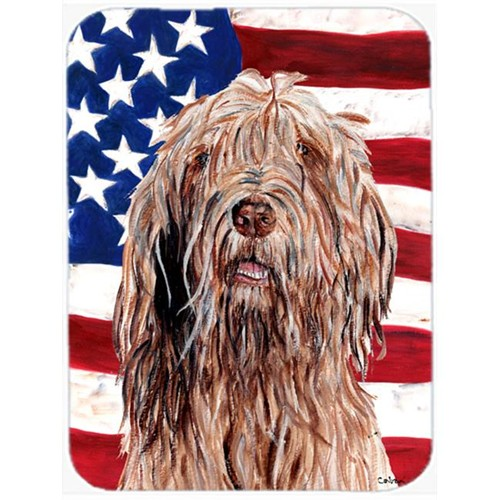 Carolines Treasures SC9637MP Otterhound With American Flag Usa Mouse Pad Hot Pad Or Trivet 7.75 x 9.25 In.