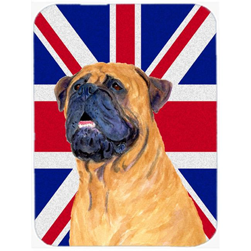 Carolines Treasures SS4962MP 7.75 x 9.25 In. Bullmastiff With English Union Jack British Flag Mouse Pad Hot Pad Or Trivet