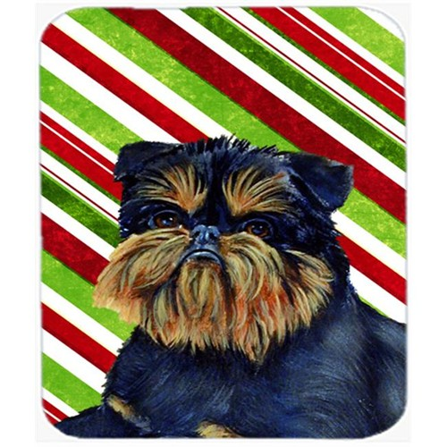 Carolines Treasures LH9253MP Brussels Griffon Candy Cane Holiday Christmas Mouse Pad Hot Pad Or Trivet