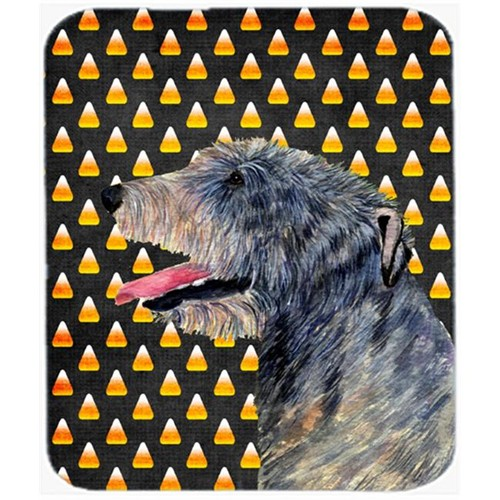 Carolines Treasures SS4299MP Irish Wolfhound Candy Corn Halloween Portrait Mouse Pad Hot Pad Or Trivet