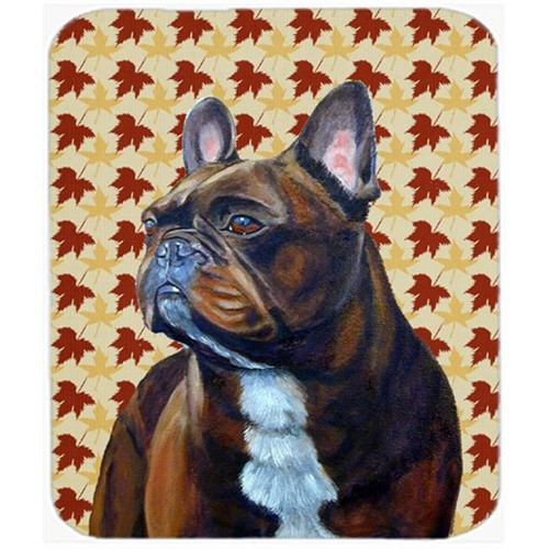Carolines Treasures LH9115MP French Bulldog Fall Leaves Portrait Mouse Pad Hot Pad or Trivet