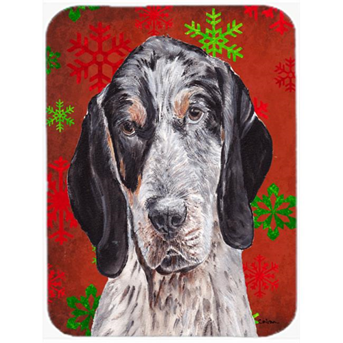 Carolines Treasures SC9745MP Blue Tick Coonhound Red Snowflakes Holiday Mouse Pad Hot Pad Or Trivet 7.75 x 9.25 In.