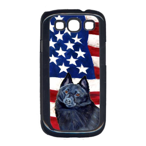 Carolines Treasures LH9009GALAXYS3 USA American Flag with Schipperke Cell Phone Cover GALAXY S111