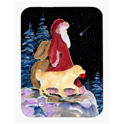 Carolines Treasures SS8973MP Santa Claus with Golden Retriever Mouse Pad & Hot Pad & Trivet