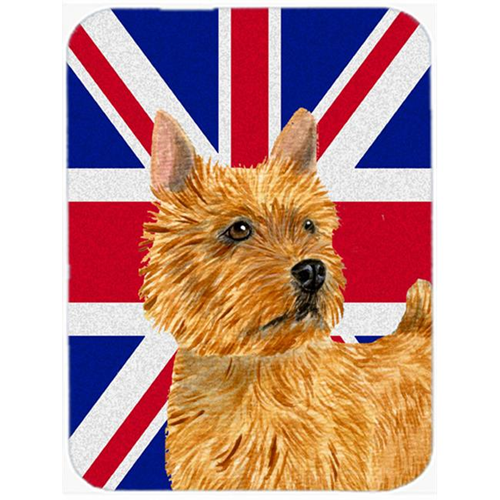 Carolines Treasures SS4941MP 7.75 x 9.25 In. Norwich Terrier With English Union Jack British Flag Mouse Pad Hot Pad Or Trivet