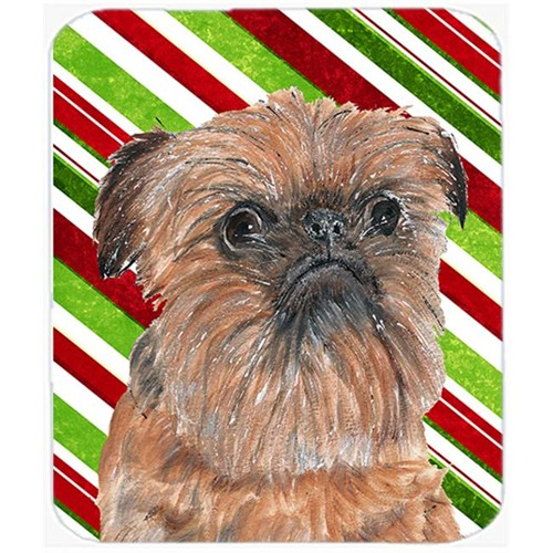 Carolines Treasures SC9614MP Brussels Griffon Candy Cane Christmas Mouse Pad Hot Pad Or Trivet