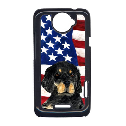 Carolines Treasures SS4042HTCONE USA American Flag With Gordon Setter HTC One X Cell Phone Cover