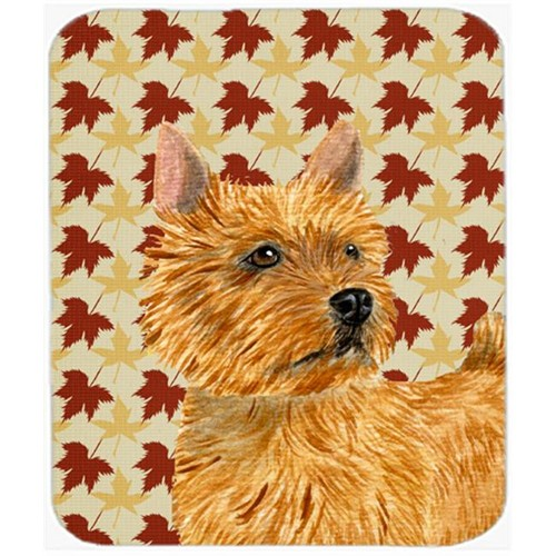Carolines Treasures SS4357MP Norwich Terrier Fall Leaves Portrait Mouse Pad Hot Pad Or Trivet
