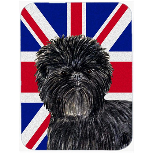 Carolines Treasures SS4953MP 7.75 x 9.25 In. Affenpinscher With English Union Jack British Flag Mouse Pad Hot Pad Or Trivet