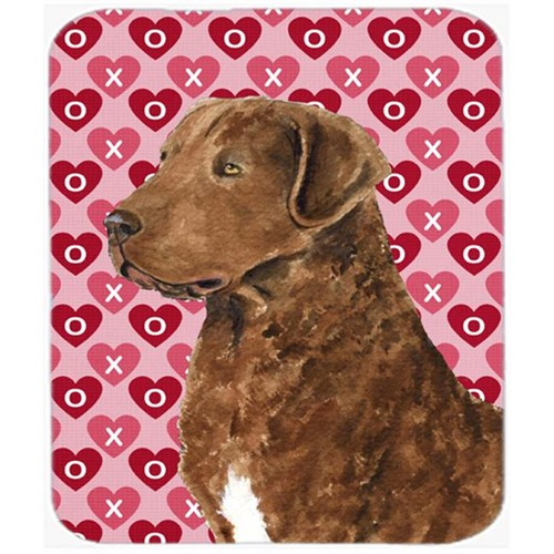 Carolines Treasures SS4531MP Chesapeake Bay Retriever Hearts Love Valentines Day Mouse Pad Hot Pad Trivet