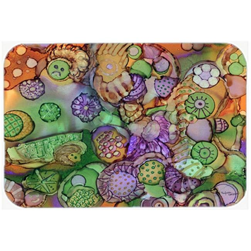 Carolines Treasures 8971MP Abstract in Purple Green & Orange Mouse Pad Hot Pad or Trivet