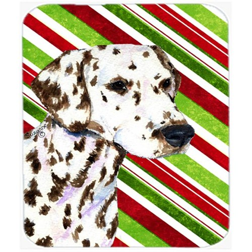 Carolines Treasures SS4538MP Dalmatian Candy Cane Holiday Christmas Mouse Pad Hot Pad Or Trivet