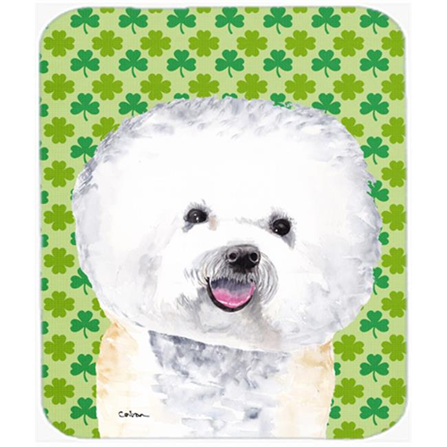 Carolines Treasures SC9282MP Bichon Frise St. Patricks Day Shamrock Portrait Mouse Pad Hot Pad or Trivet