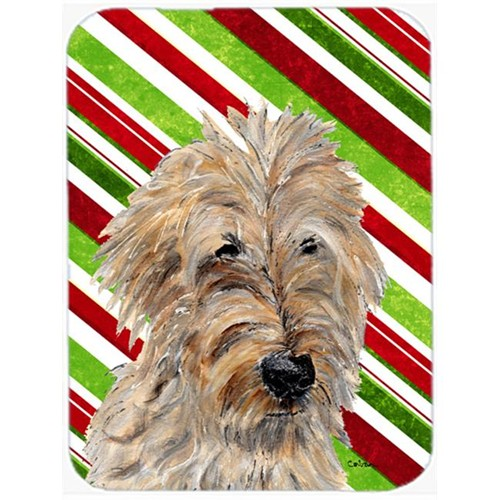 Carolines Treasures SC9811MP Golden Doodle 2 Candy Cane Christmas Mouse Pad Hot Pad Or Trivet 7.75 x 9.25 In.