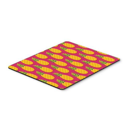 Carolines Treasures BB5136MP Pineapples on Pink Mouse Pad Hot Pad or Trivet
