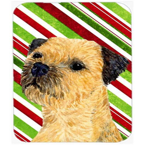 Carolines Treasures LH9233MP Border Terrier Candy Cane Holiday Christmas Mouse Pad Hot Pad Or Trivet