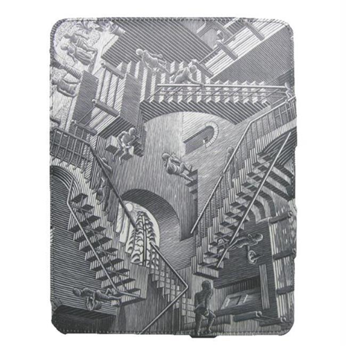 Lux Mobile 188249 M.C. Escher Relativity Premium iPad 2 Fabric Wrapped Case