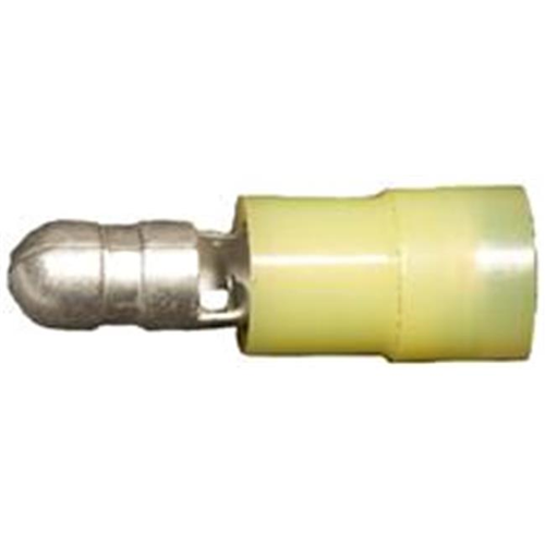 Morris Products 12058 Nylon Insulated Double Crimp Bullet Disconnects - 12-10 Wire.197 Bullet Pack Of 100