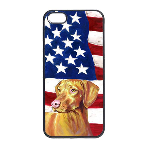 Carolines Treasures LH9012IP4 USA American Flag With Vizsla Iphone 4 Cover