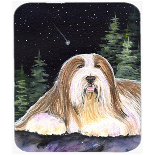 Carolines Treasures SS8529MP Starry Night Bearded Collie Mouse Pad Hot Pad or Trivet