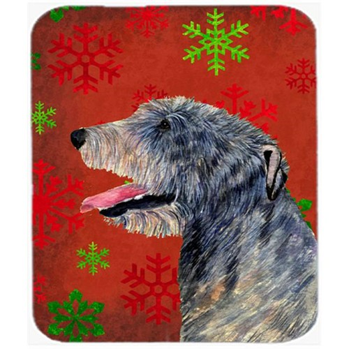 Carolines Treasures SS4713MP Irish Wolfhound Snowflakes Holiday Christmas Mouse Pad Hot Pad or Trivet