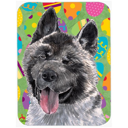 Carolines Treasures SC9488MP 7.75 x 9.25 In. Akita Easter Eggtravaganza Mouse Pad Hot Pad Or Trivet