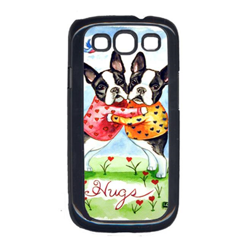 Carolines Treasures 7015GALAXYSIII Hugs Boston Terrier Cell Phone Cover Galaxy S111
