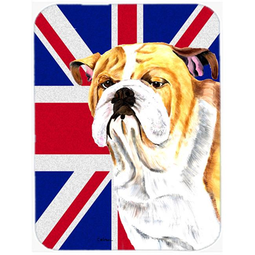 Carolines Treasures SC9831MP 7.75 x 9.25 In. Bulldog English With English Union Jack British Flag Mouse Pad Hot Pad Or Trivet