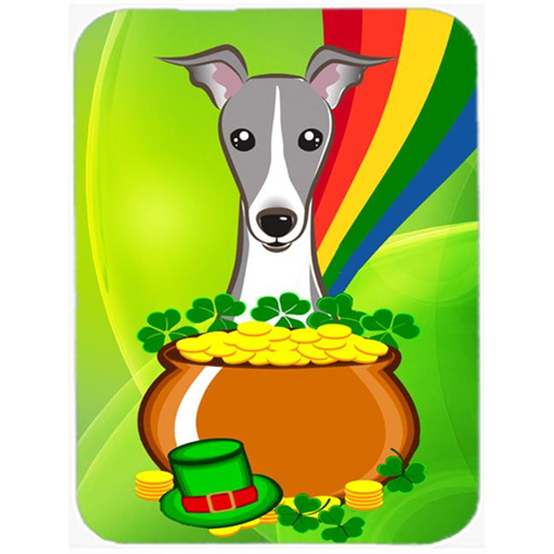 Carolines Treasures BB1980MP Italian Greyhound St. Patricks Day Mouse Pad Hot Pad or Trivet