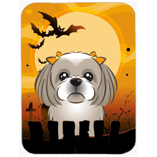 Carolines Treasures BB1808MP Halloween Gray Silver Shih Tzu Mouse Pad Hot Pad & Trivet