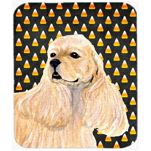 Carolines Treasures SS4315MP Cocker Spaniel Candy Corn Halloween Portrait Mouse Pad Hot Pad or Trivet