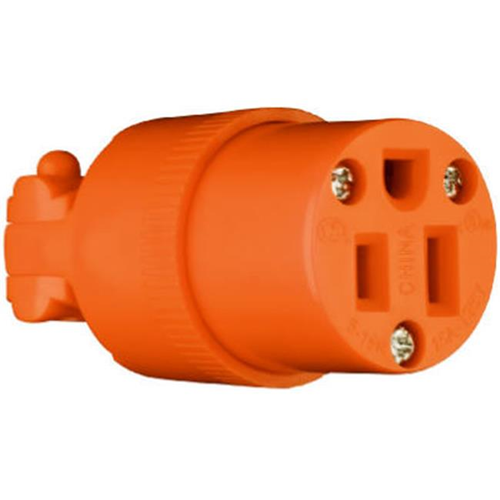 Pass & Seymour 6887OCC10 Connector 15A 125V Orange