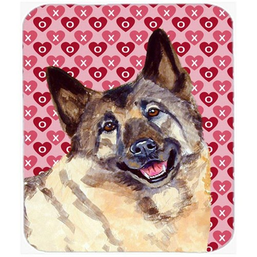 Carolines Treasures LH9173MP Norwegian Elkhound Hearts Love Valentines Day Mouse Pad Hot Pad or Trivet