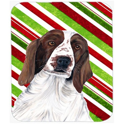 Carolines Treasures SC9340MP Welsh Springer Spaniel Candy Cane Christmas Mouse Pad Hot Pad or Trivet