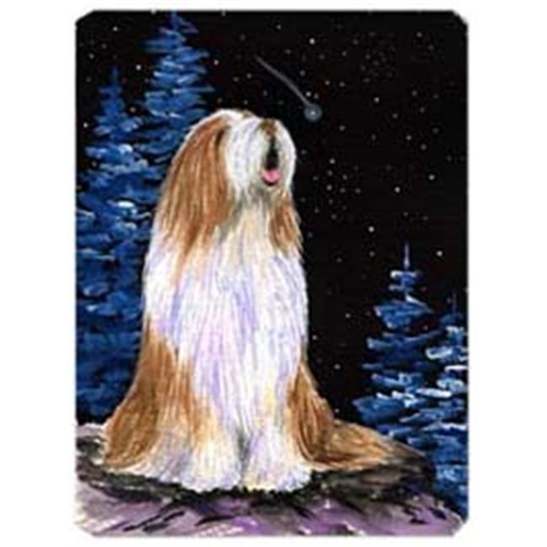 Carolines Treasures SS8467MP Starry Night Bearded Collie Mouse Pad