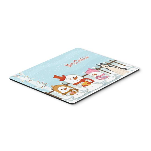 Carolines Treasures BB2356MP Merry Christmas Carolers West Siberian Laika Spitz Mouse Pad Hot Pad or Trivet