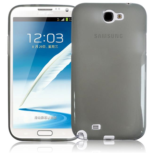 RND Accessories TPU Protective Case For Samsung Galaxy Note II - Transparent Grey